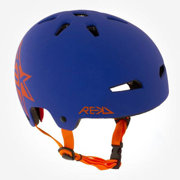 REKD Elite Icon Blue Orange Skate Bike Protective Helmet - Main View