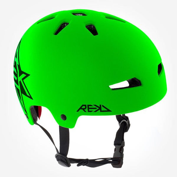 REKD Elite Icon Green Black Skate Bike Protective Helmet - Main View