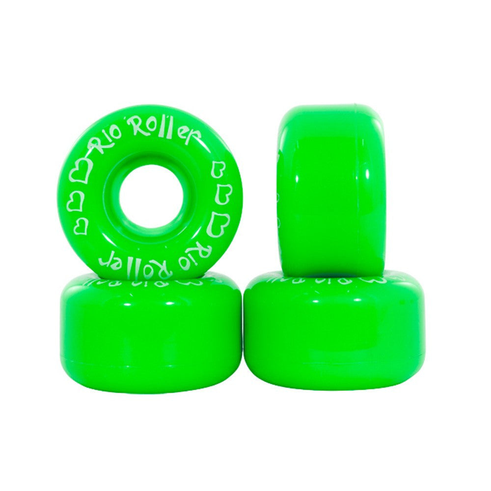 Rio Roller Coaster Green Quad Skate Wheels