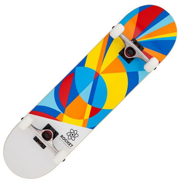 ROCKET BLUE RED SKATEBOARD - MAIN VIEW