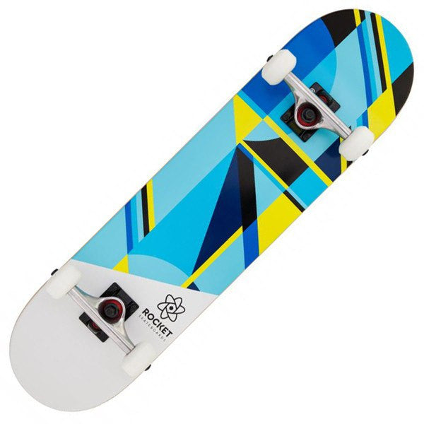 ROCKET WHITE BLUE SKATEBOARD - MAIN VIEW