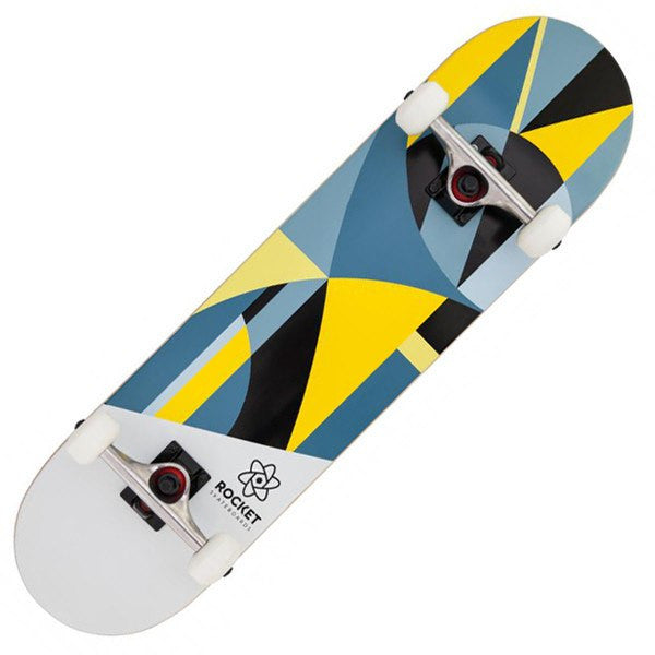 ROCKET GREY YELLOW SKATEBOARD - MAIN VIEW