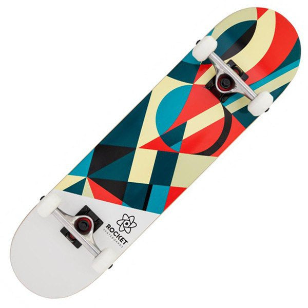 ROCKET WHITE RED SKATEBOARD - MAIN VIEW