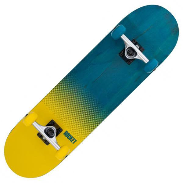 ROCKET BLUE YELLOW SKATEBOARD - MAIN VIEW