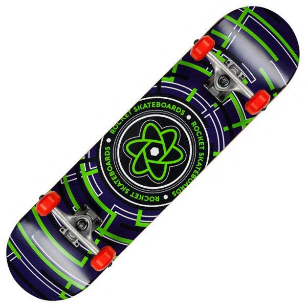 Rocket Atom Series Maze Green Skateboard