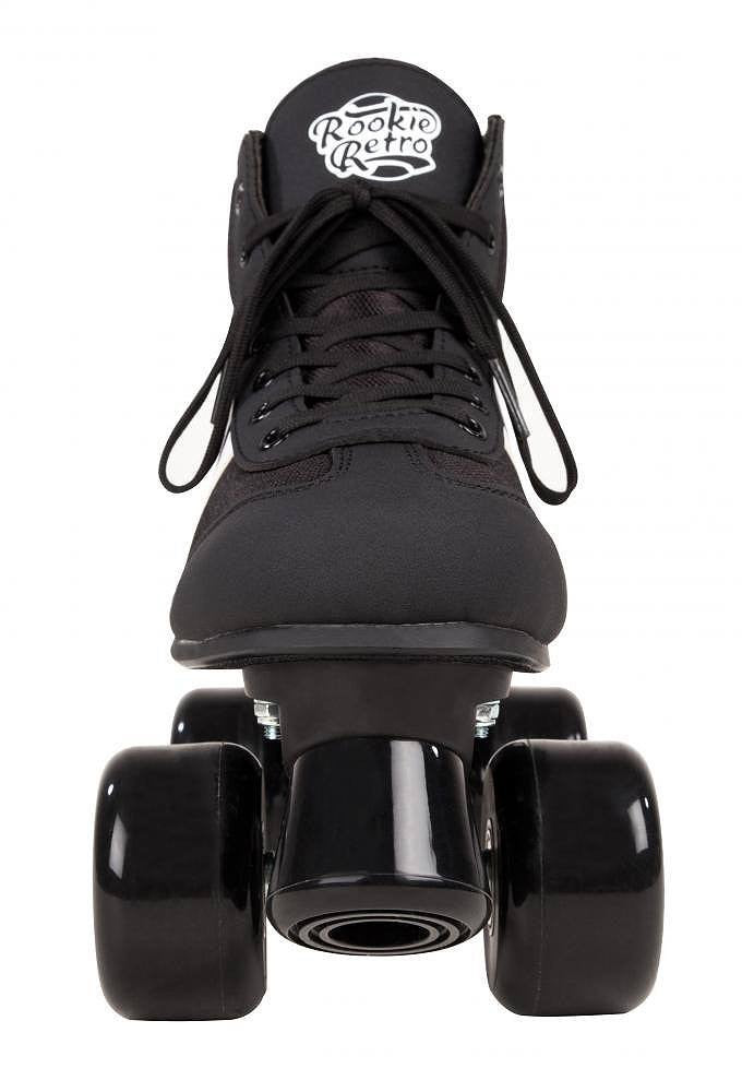 Rookie Retro V2.1 Black/White Roller Skates - front view
