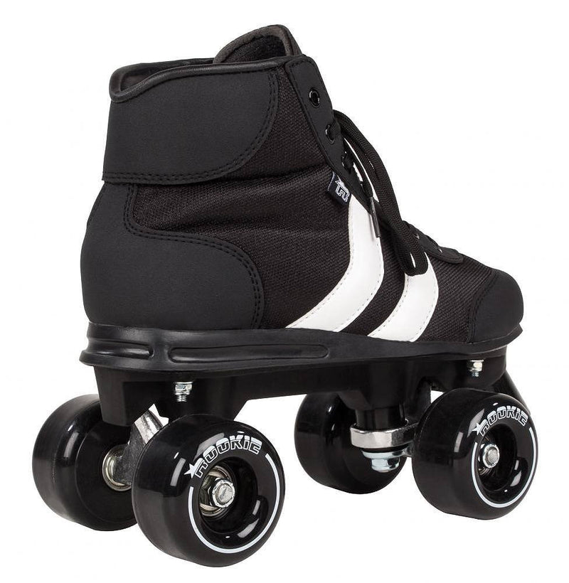 Rookie Retro V2.1 Black/White Roller Skates - rear view