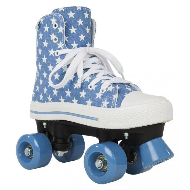 Blue White Stars Roller Skates - Main View