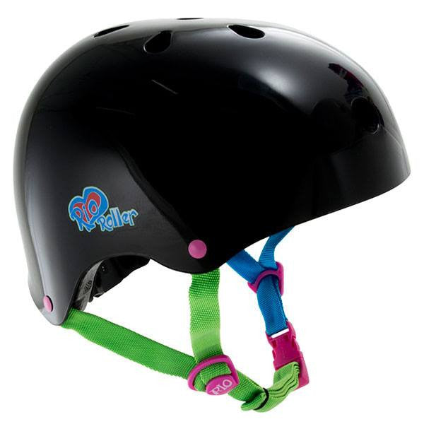 Rio Roller Passion Black Adjustable Skate Helmet - Front View