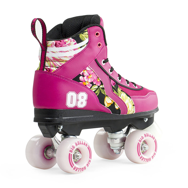 Rio Roller Flower Quad Roller Skates - side view