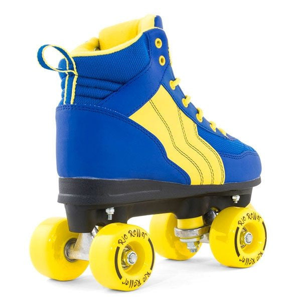 Rio Roller Pure Blue/Yellow Quad Roller Skates - Rear View