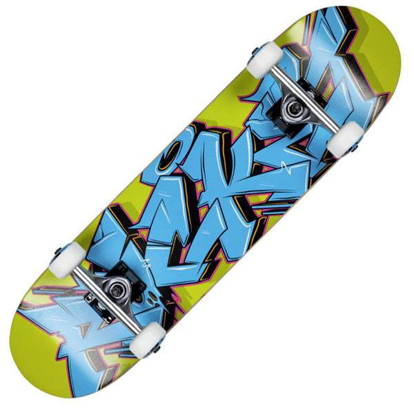 Rocket Graffiti Series Blue Green Complete Skateboard - Main View