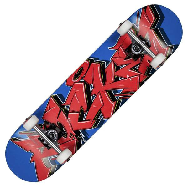 Rocket Graffiti Series Red Blue Kids Complete Skateboard - Main View
