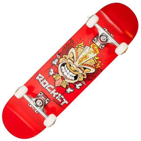 Rocket Tiki Fire Red Mini Complete Skateboard - Main View