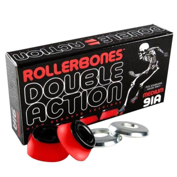 Rollerbones Double Action Red/Black 91A Medium Skate Cushions [Set of 8] - Main View