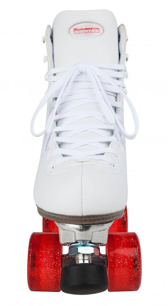 Rookie Classic II White Roller Skates - front view