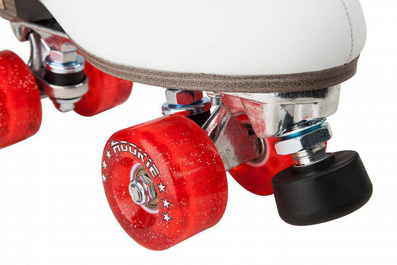Rookie Classic II White Roller Skates - front toe stop