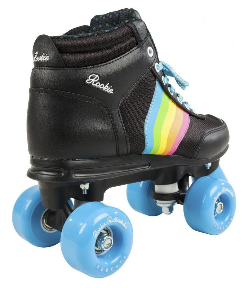 Rookie Forever Rainbow V2 Black/Multi Roller Skates - rear view