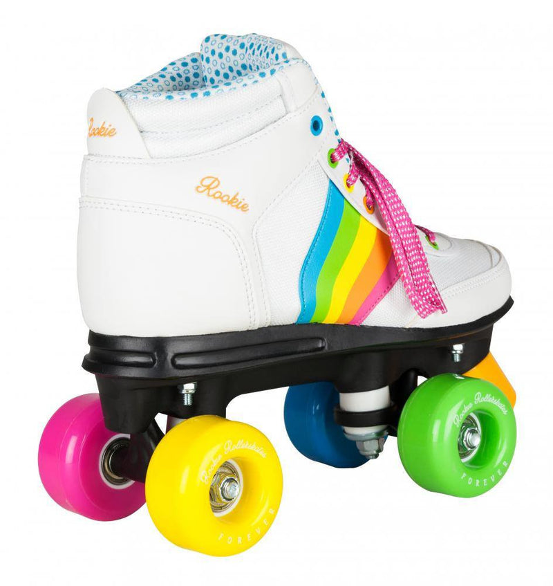 Rookie Forever Rainbow V2 White/Multi Roller Skates - rear view