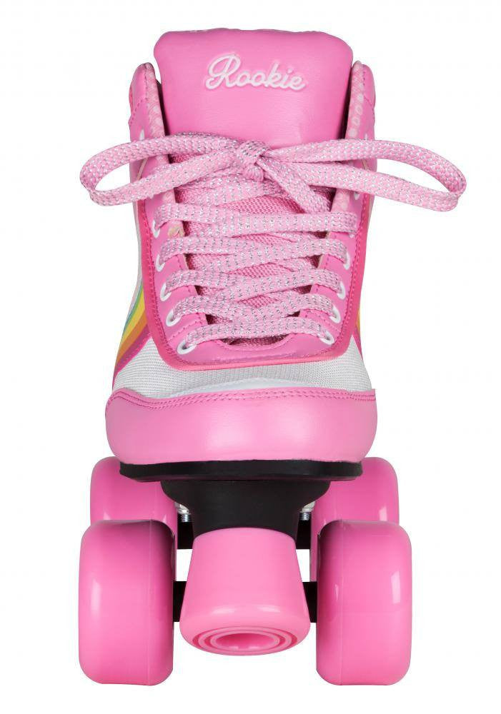 Rookie Forever Rainbow V2 Pink/Multi Roller Skates - front view