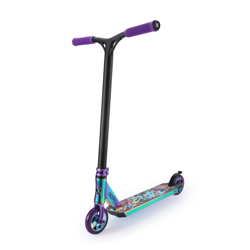 Sacrifice Flyte 100 Neochrome/Purple Graffiti Stunt Scooter