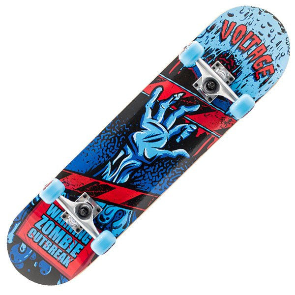 Voltage Zombie Mini Blue Skateboard