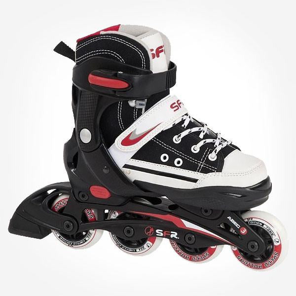 SFR Camden Black White Kids Adjustable Inline Skates - Main View