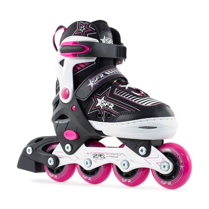 SFR Pulsar Kids Adjustable Inline Skates - Pink