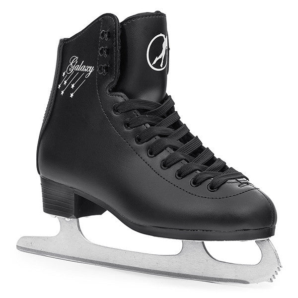Black Vinyl Figure Ice Skates - Main View