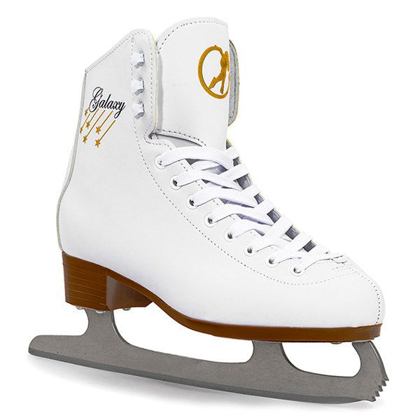 White Vinyl Figure Ice Skates - Main View