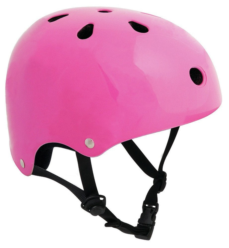 SFR Essentials Fluorescent Pink Adjustable Skate Bike Helmet - Main View