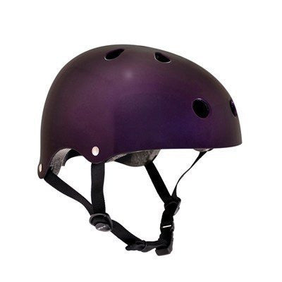 SFR Essentials Metallic Purple Adjustable Skate Bike Helmet - Main View