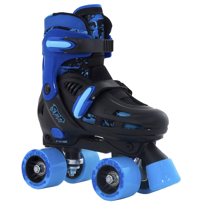 SFR Racing Storm II Black/Blue Adjustable Kids Roller Skates