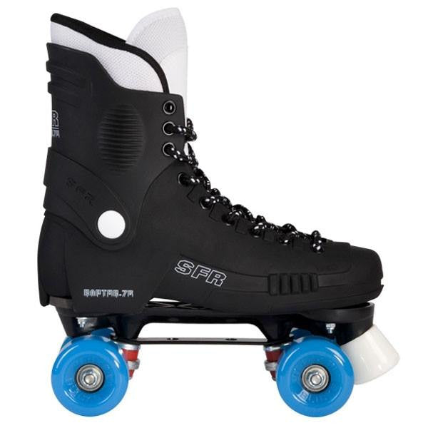 SFR Raptor 76 Blue Wheels Quad Roller Skates - Side View