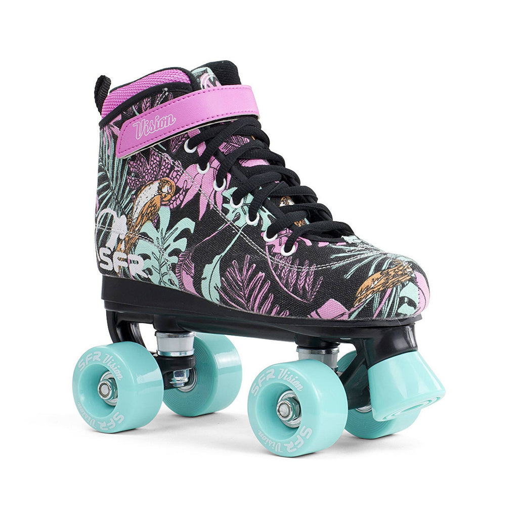 SFR Vision Quad Roller Skates with Floral Canvas Design - main image