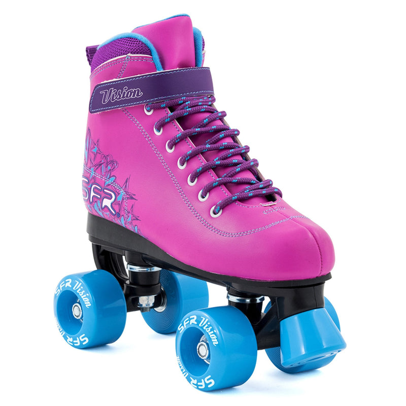 Pink Blue Girls Roller Skates - Main View