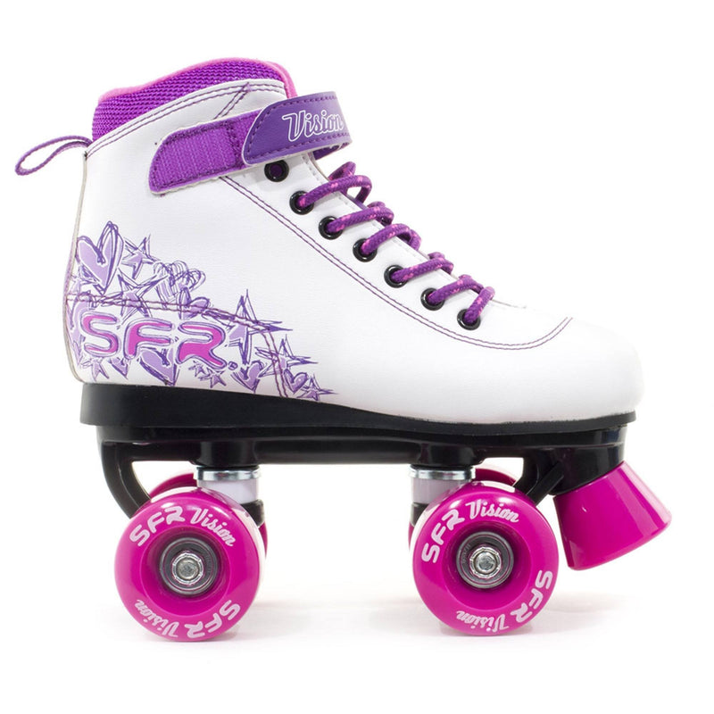 SFR Vision II Quad Skates - Pink - Side View
