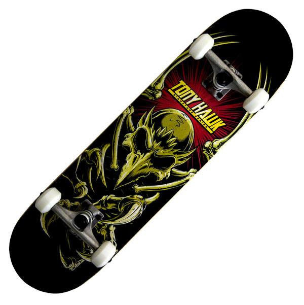 Tony Hawk 360 Series Vertebrate Black Complete Skateboard - Main View