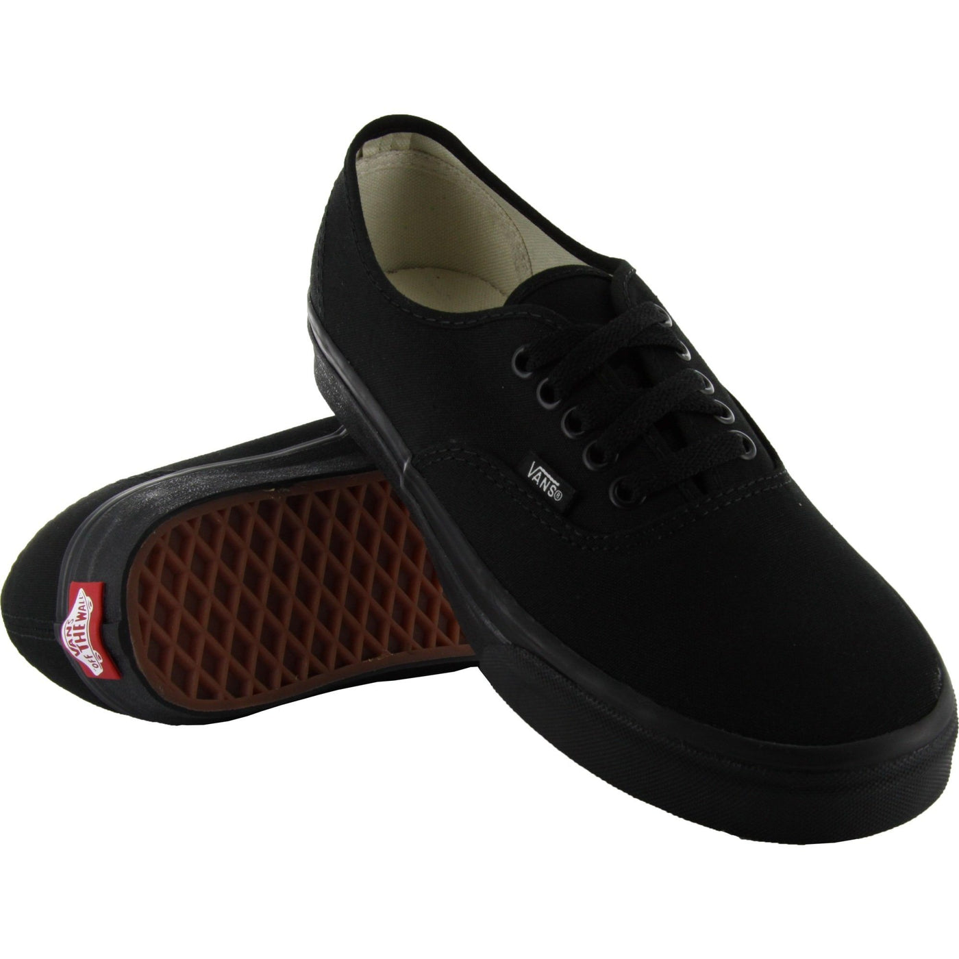 ... VANS AUTHENTIC BLACK SHOES - BOTH SHOES VIEW 44c83a39b