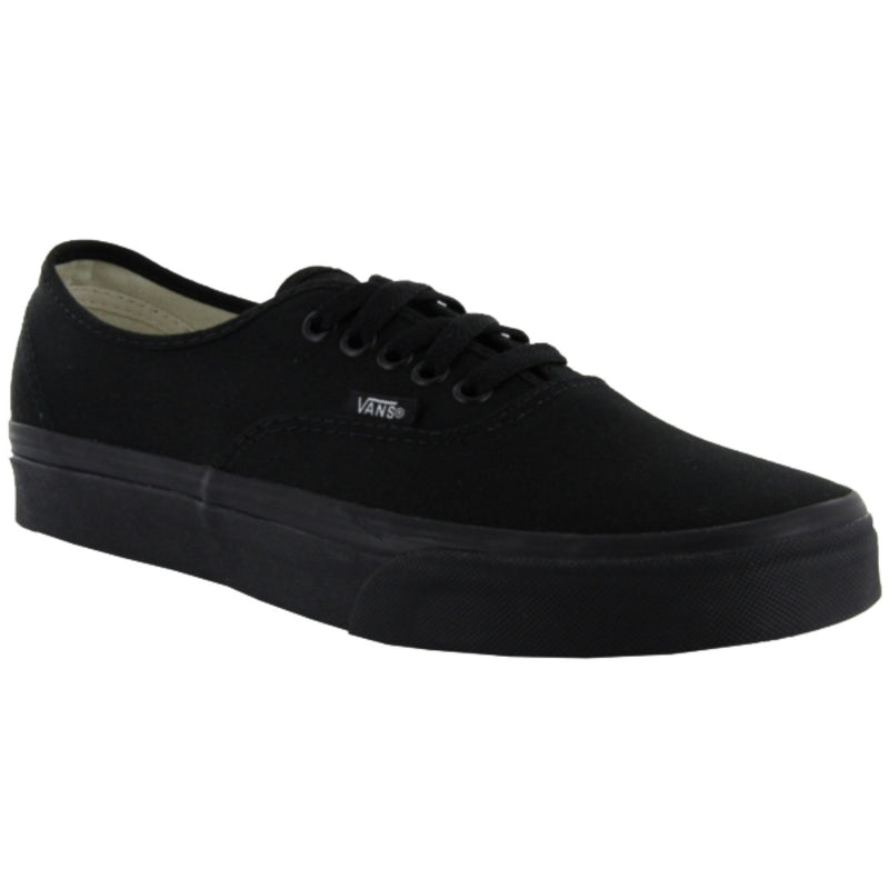 VANS AUTHENTIC BLACK SHOES - MAIN VIEW