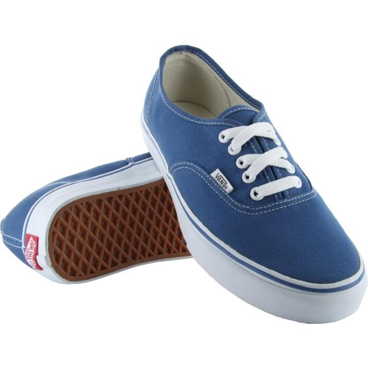 VANS AUTHENTIC NAVY SHOES - BOTH SHOES VIEW