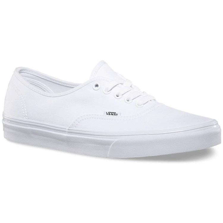 VANS AUTHENTIC WHITE SHOES - MAIN VIEW