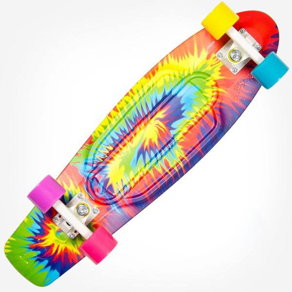 "Penny Nickel 27"" Woodstock Tie Dye Complete Cruiser Skateboard - Main View"