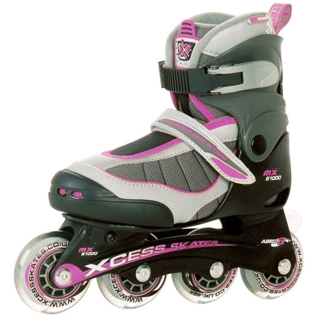 Xcess MX S1000 Lilac Kids Adjustable Inline Skates - Main View