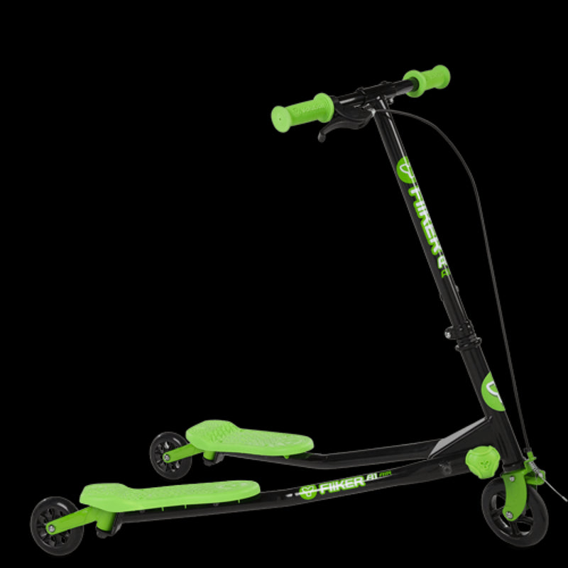 Yvolution Fliker A1 Three-Wheeled Scooter - Green Front View