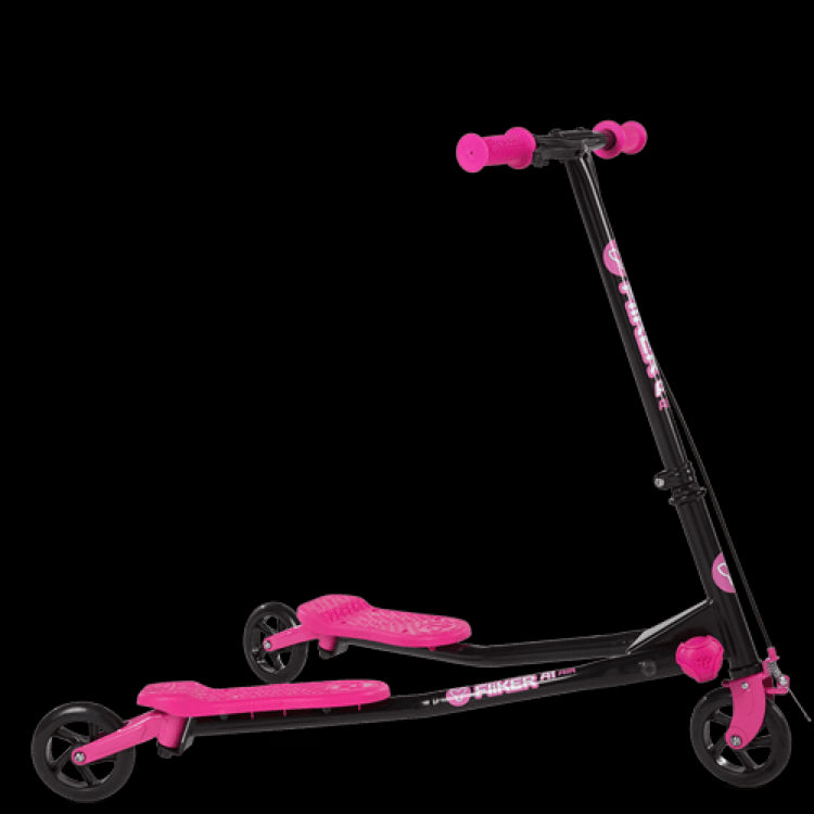 Yvolution Fliker A1 Three-Wheeled Scooter - Pink Front View