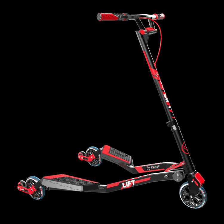 Yvolution Fliker Lift Three-Wheeled Scooter - Red Front View