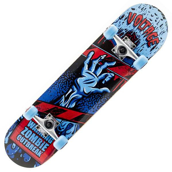 Voltage Zombie Blue Complete Skateboard - Main View