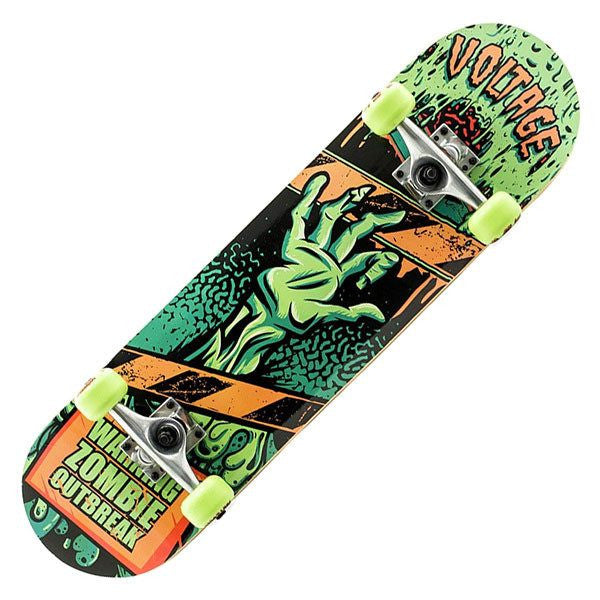 Voltage Zombie Green Complete Skateboard - Main View