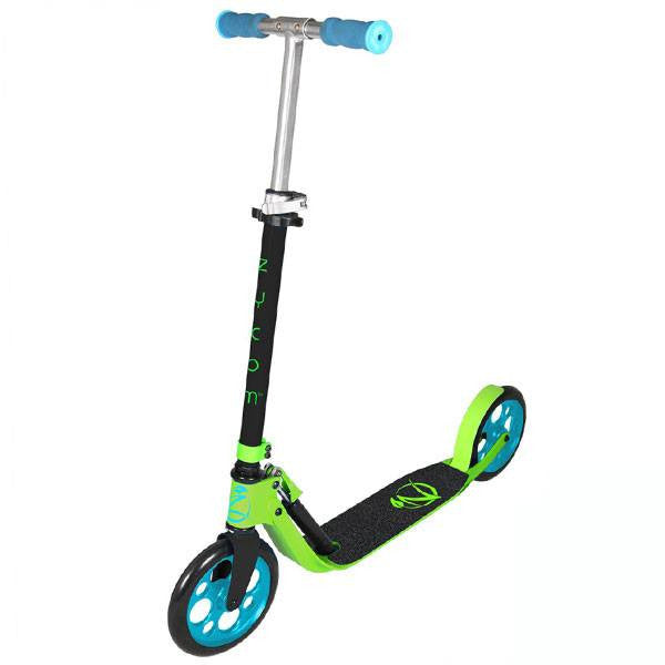 Zycomotion Easy Ride Black Green Blue Push Scooter - Main View